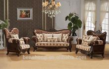 S2195 FoShan Latest wooden furniture design turkish sofa furniture classical furniture