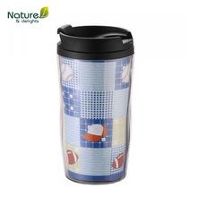 250ml paper logo inserts plastic advertising mugs