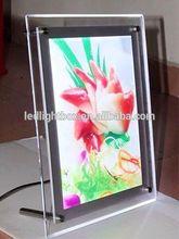 LED lighting acrylic sristal menu frame