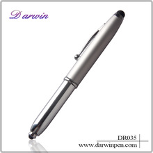 Jiangxi custom metal laser pointer led light ball pen pda stylus pen