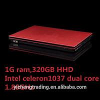 Free shipping cheap laptops Intel Atom D2500 Dual-Core 14 inches 1G 160GB mini cheap chinese brand laptops