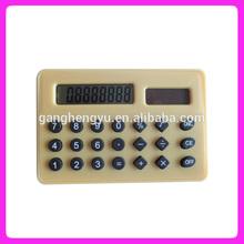 8 digit cute solar power thin pocket calculator