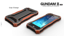 Gundam II Aluminum Silicon shockproof Cell Phone Case for iPhone 5 5S