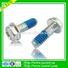 China factory flange hex head nylok screws,stainless steel screws