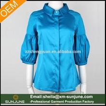 OEM high quality new style slim fit fashion ladies long shirts