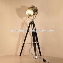 Moderm designer tripod floor lamp/LARGE Vintage Theater Stage Nautical Spotlight - Industrial Nautical Floor Lamp