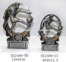 resina de fútbol personalizada premio trofeo placa