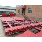 High quality widely used low-boy trailer/type exposed 100 ton 3 lines 6 axle detachable and rigid fixed gooseneck lowboy trailer