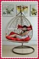 Mimbre muebles de jardín de ratán huevo Pod especial del oscilación del jardín Patio