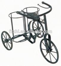 Art Craft Bicycle Shape Double Bolttle Metal Wine Bottle Carrier
