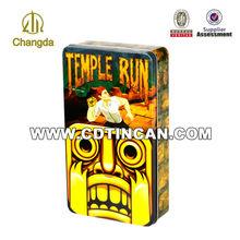 High quality rectangular tin box can be customized manufactual packaging clothes metal box CD-217