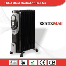 Elegant Design Black Oil Heater/ Oil Filled Radiator with LCD & Thermostat Control