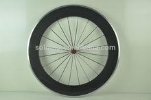 aluminium bike wheel glossy finish Clincher Road Bike Carbon Wheelset