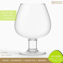 Design Unique Thick Short Glassware Stemware For Red Wine