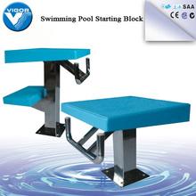 Professional fiberglass swimming pool starting block