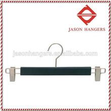 TS2015 Deluxe black wooden clip pants hanger