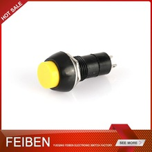 YELLOW BUTTON WITH LOCK OR RESET PUSH SWITCH PUSH BUTTON SWITCH