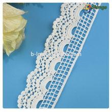 White color 2015 Guangzhou custom cotton super trim lace