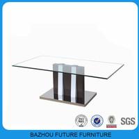 hot sale latest new design modern glass centre table