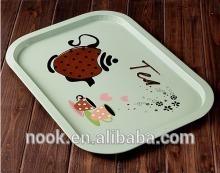 Rectangle Shape Metal Tin Tray tin iron box Food Tray Christmas Design christmas hat design tin christmas trays food