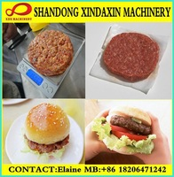 Automatic Hamberg Meat Pancake/Chicken Hamberg Making Machine:Forming,Frying Machine 300kg/h