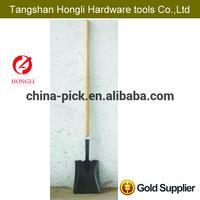 professional long wooden handle farming shovel