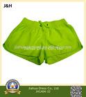 Women Blank Fluorescent Color Micro Fiber Hot Shorts