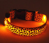 Adjustable S/M/L Led dog glowing collar, led dog collar for Christmas, waterproof dog collar