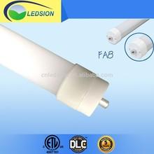 ETL CE Approval 36W 8ft T8 LED Tube Light FA8 Single PIN Ending Caps