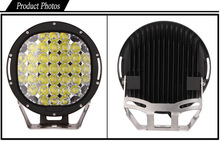 "9"" 185watt LED Work Light, New High Performance 185W Round LED Driving Light"