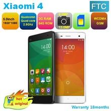 5.0 inch original xiaomi mi4 mobile phone
