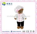 feminina de pelúcia chef urso de brinquedo