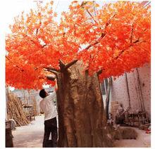 พืชและต้นไม้เทียมต้นไม้ภูมิทัศน์เทียมสีแดงเมเปิ้ลต้นไม้