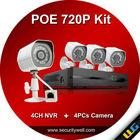 H.264 4ch DIY POE NVR System