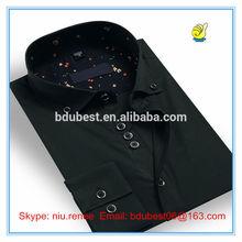 latest design jacquard collar army green slim fit long sleeve man dress shirt