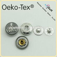 Oeko- Tex pass spring snap button cap