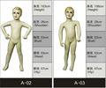venta caliente de encargo realista de cuerpo entero los niños maniquí de moda