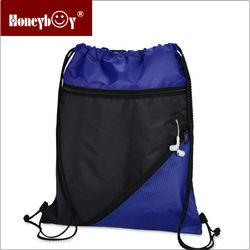 fashion ear canal nylon mesh travel drawstring bag