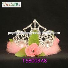 New design flower wedding crystal bridal tiara hair band