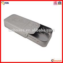hot sale factory rectangular tin box with slip lid