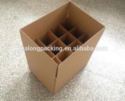 Wholesale cheap 12 bottle cardboard wine box