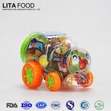 Récipient de nourriture en plastique Train voiture pot saveur de fruits de bonbons