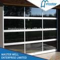 Alumínio fosco painel de vidro portas de garagem/auminum moldura da porta de vidro