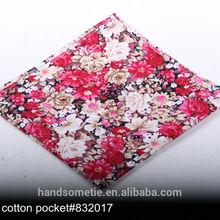 Custom Design Cotton Mens Pocket Squares