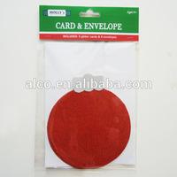Christmas glitter greeting gift card