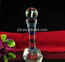 La antorcha de vidrio en forma de laudo, trofeo de cristal placa&