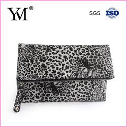 2014 custom PU tiger printed ladies clutch bag