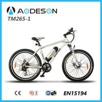 EN15194, kit conversion electrical bicycle mountain bike TM265-1 with f/r disc brake