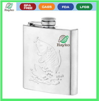 high quality Engraved Stainless Steel Hip Flask with different size set, festival gift