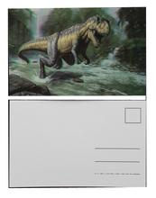 3d carte postale hot photo lenticulaire impression PET / PP dinosaur cadeau populaire personnalisé